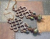 Celtic Chandelier Earrings - Teal