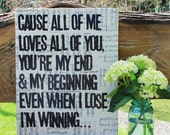 16x20 - All of Me - vintage sheet music canvas art
