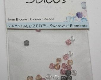 Swarovski Crystallized elements 4mm Bicone