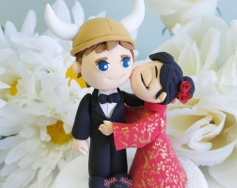 Custom Cake Topper - Viking & China Doll
