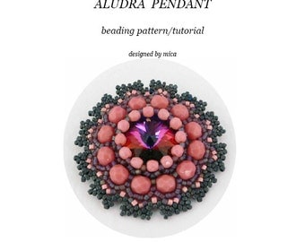 Aludra Pendant - Beading Pattern/Tutorial - PDF file for pesonal use only