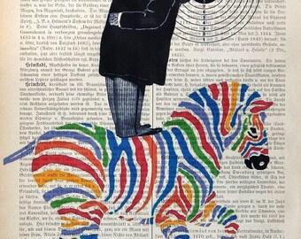 NAVIGATION, original mixed media,art print poster acrylic painting