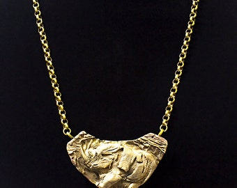 Rugby Rhino Copper and Bronze Pendant Necklace