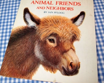 animal friends and neighbors, vintage 1973 children's book