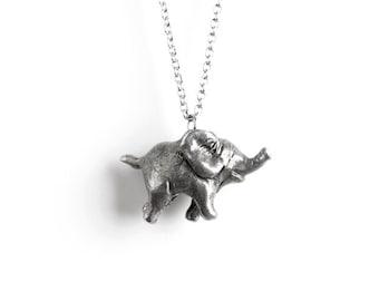Animal Jewelry, Elephant Necklace - Elephant Totem