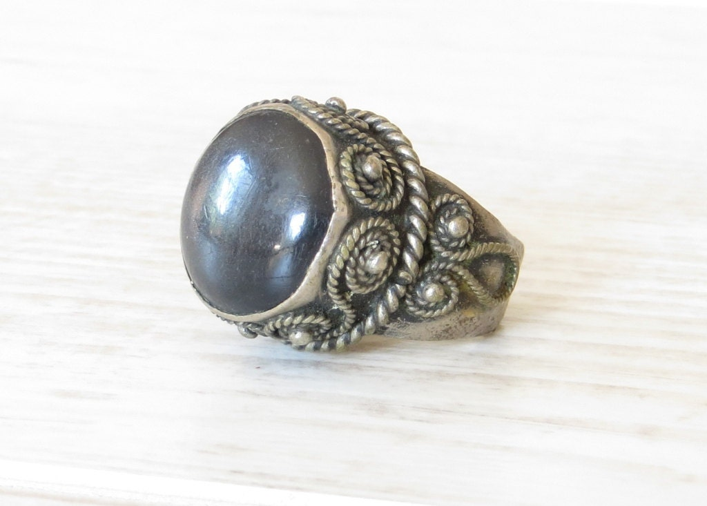antique mens ring sterling silver ring mens silver ring large