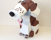 Dog Sculpture Made from recycled found objects / Pet Lover's Gift Idea