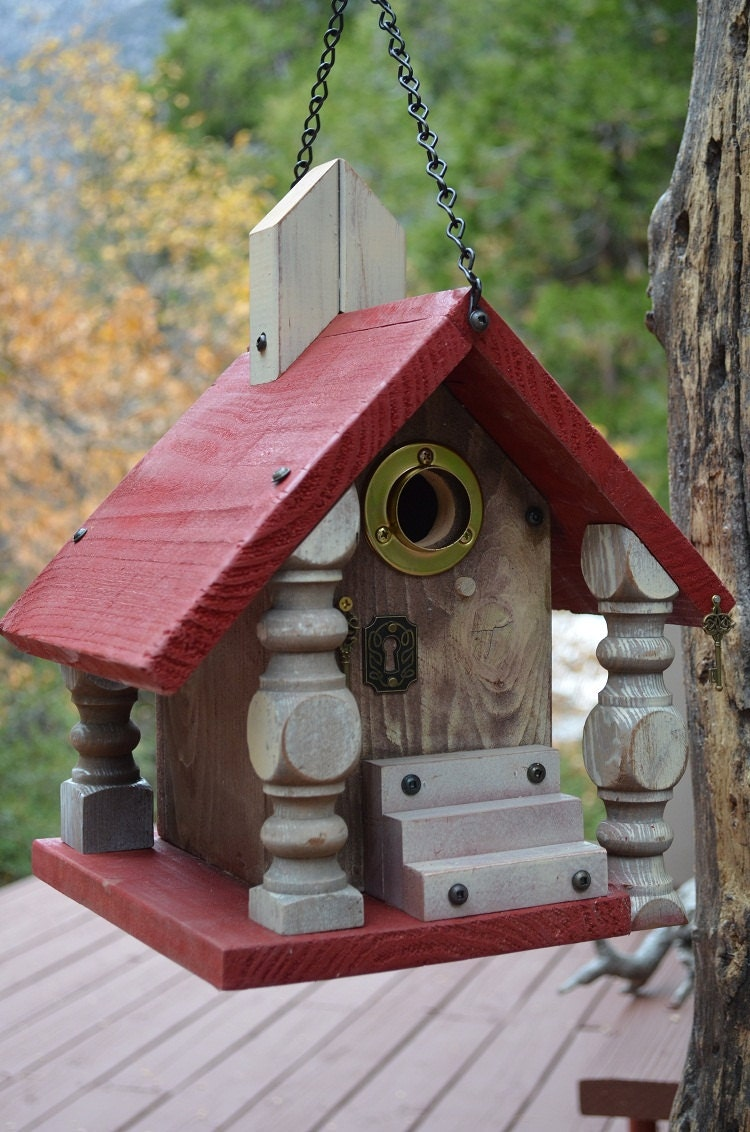 Decorative Handmade Birdhouse Functional For Cavity Nesting