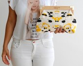 Vegan bag, Hand painted clutch, clutch bag