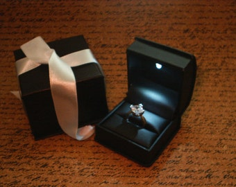 Led Lighted Ring Box Fancy Engagement Ring Boxes Nyc By