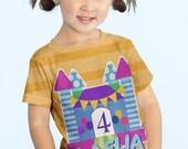 Girls Personalized Shirt, Bounce House Birthday Shirt, Bouncehouse Number T-Shirt, Castle Birthday Shirt