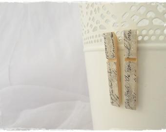 Wooden Post Earrings, Decoupage Victorian Studs, Calligraphy Script Posts, Long Decoupage Earrings, Wooden Jewelry, Gothic Wood Earrings