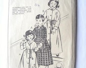 Childs Dressing Gown Pattern Style 1094 Age 6 Years Childrens Kids Robe - Vintage 1950s Sewing Pattern