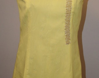 Vintage Dress Yellow 1970s