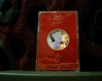 1972 Ethiopia Haile Selassie 5 Dollar Proof Silver Coin (.999 Pure Silver)