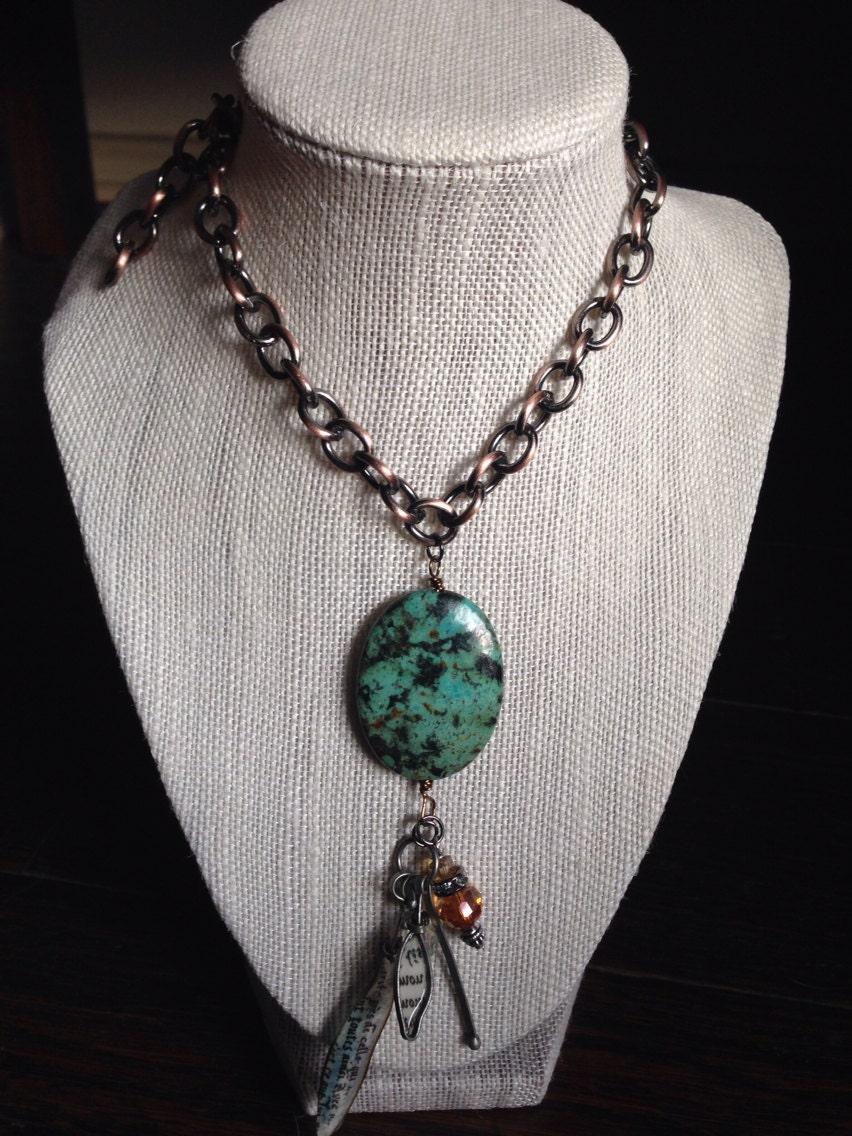 turquoise pendant necklace santa fe turquoise southwest