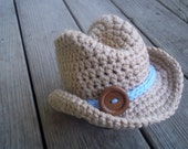 Crochet Newborn/Toddler Cowboy/Cowgirl Hat