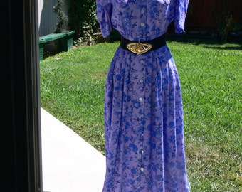 blue  Hand dyed dress size 6