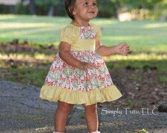 HALF OFF SALE Baby Marissa's Perfect Peasant Dress pdf Pattern Size Newborn to 18/24m