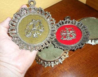 Astrological/ZODIAC SIGNS FRAMES/Metal Anitque Brass Frames/Ornaments