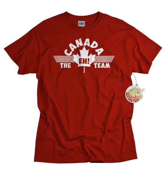 The Eh Team T Shirt Funny Canadian Tee Shirt Canada Maple Leaf