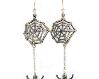 Spider Web Earrings - Cute and Creepy Halloween by Weirdly Cute