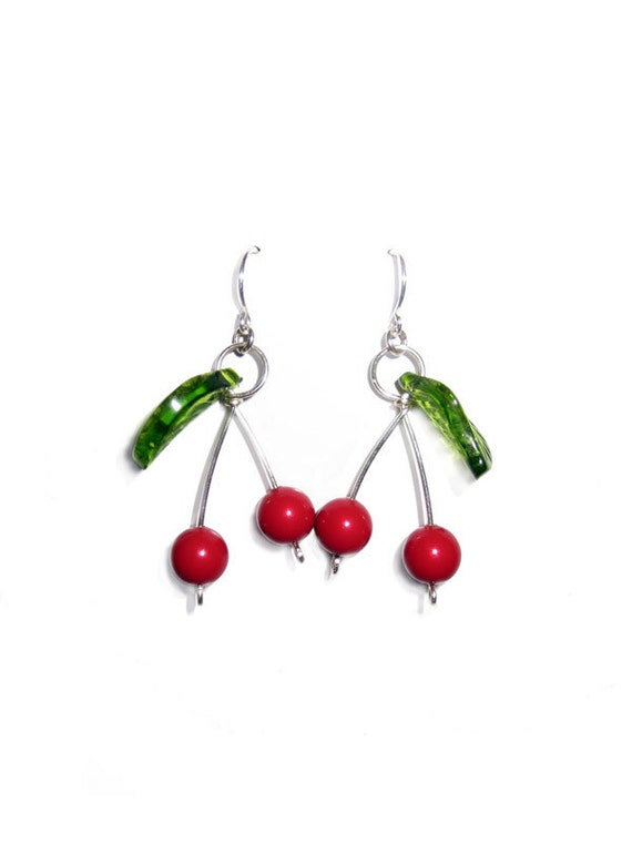 Juicy Cherry Earrings - Weirdly Cute Jewelry