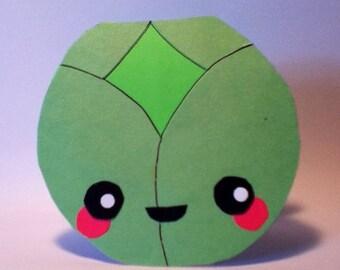 Handmade Kawaii Brussle Sprout Card - Cardstock