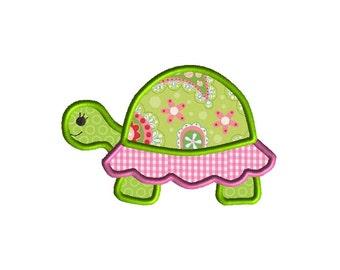 Turtle Applique Machine Embroidery Design-INSTANT DOWNLOAD