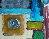 "Abstract painting 18""x24"" mixed media"