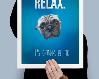 RELAX print inspirational motivational 5x7 up to 16x20