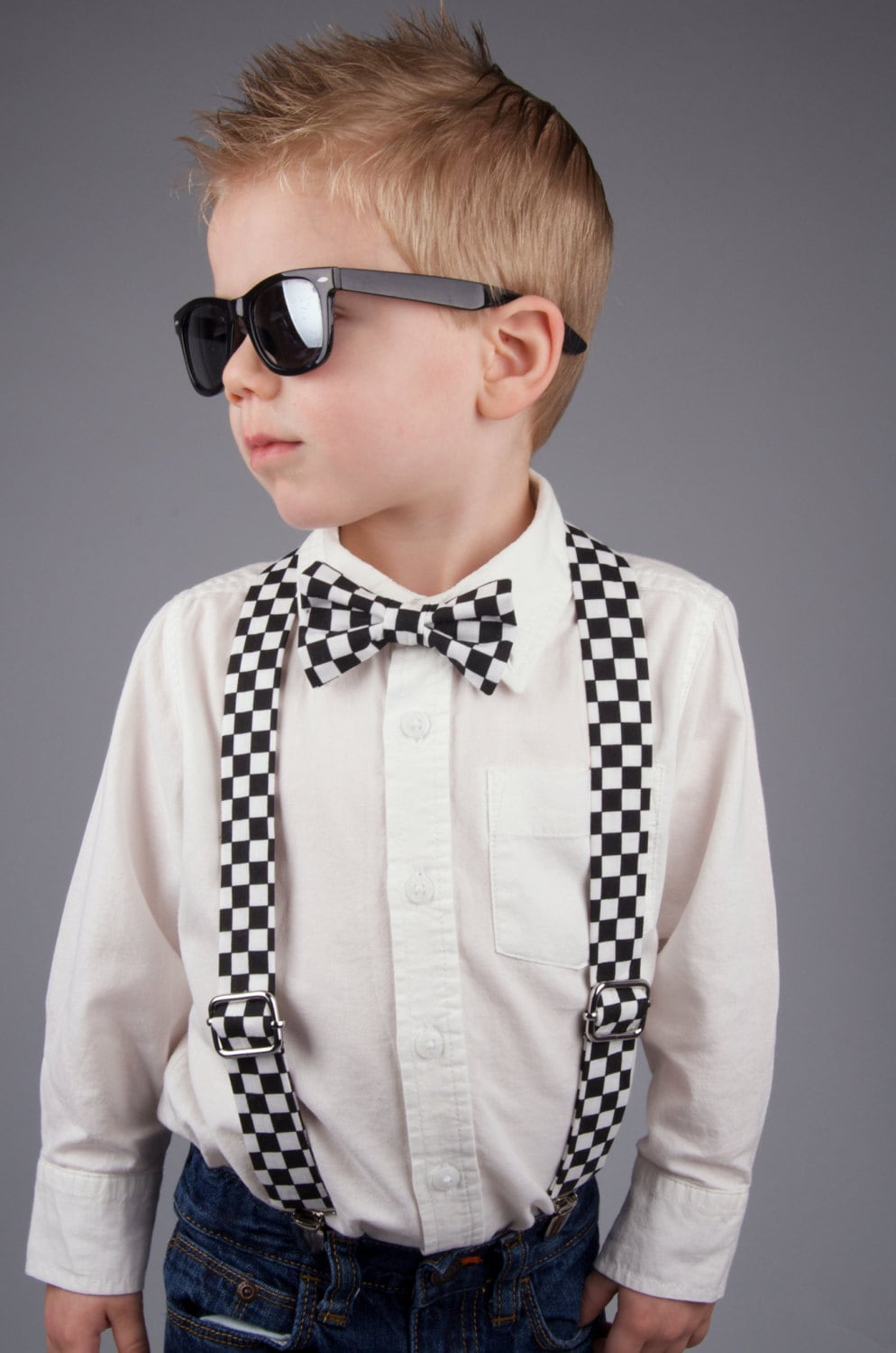 Checkered Bow Tie Amp Suspenders Set Checkered Bow Tie