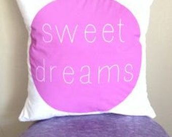 Sweet Dreams, Nursery Decor Modern Kids Pillow, Sweet Dreams Pillow
