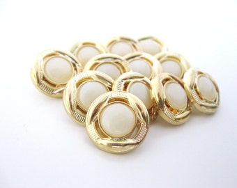 White Gold buttons Set of twelve 15