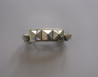 Silver Metal Studded Spike French Barrette, for parties, fun, special occasions