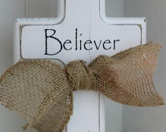 Distressed Wood Cross - Stand Alone Wood Cross - Wedding Gift - Baptism Gift - Birthday Gift - Easter - Cross