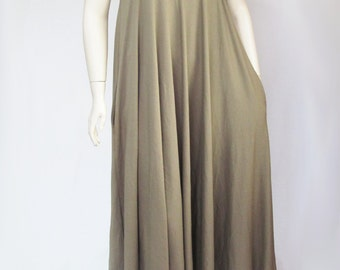 Plus Size Maxi Dress with Pockets, Sundress in Your Choice Color, Made to Order-Natural Fiber Jersey-Custom Sizing XL,2X,3X,4X,5X,6X