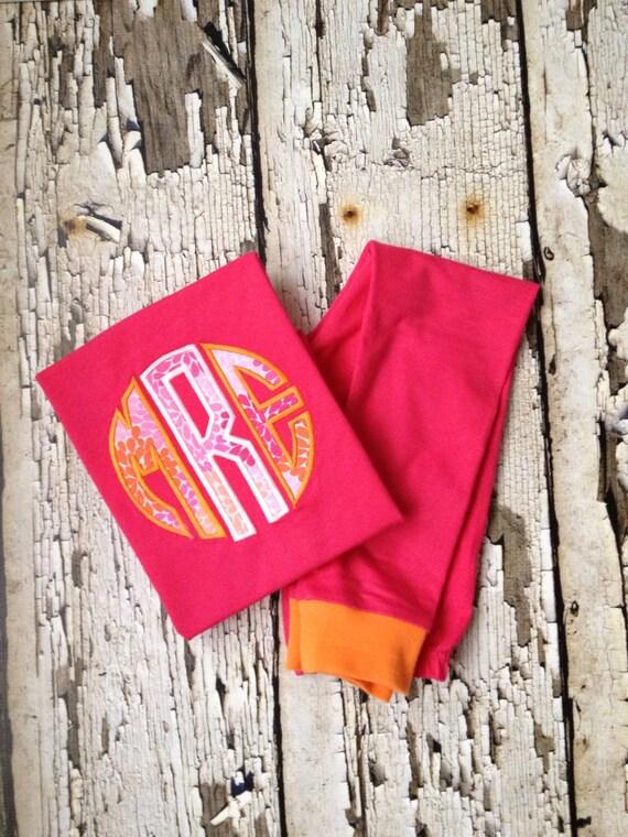 Pink Monogram Pajamas Personalized PJS Girls Pajamas Hot