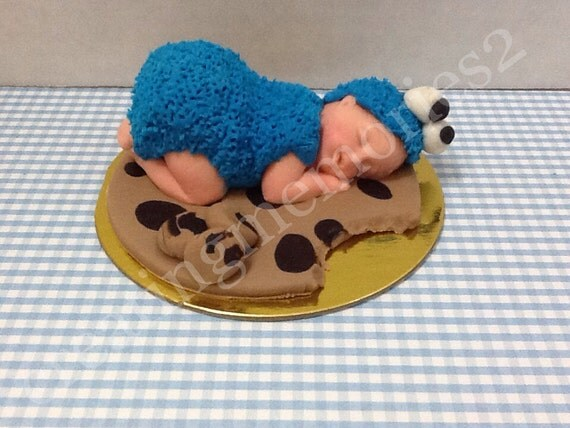 cookie fondant baby edible cookie monster baby topper great for