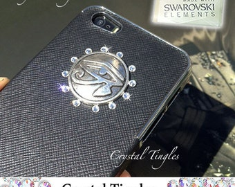 Eye of Horus Superhero Superman Movie Theme Synthetic Leather Hard Case Custom Made For iPhone 5S Red Black White