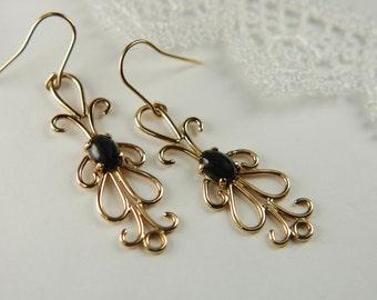 Solid Gold Earrings Luxury Jewelry Handmade Gold Artisan Earrings 14K Gold Earrings Fine Gold Jewelry