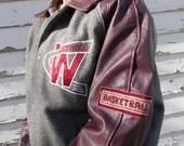 vintage letterman varsity jacket athletic jacket westwood warriors - 70s/80s
