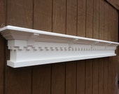 Dentil molding fireplace mantel shelf - custom wall shelf