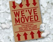 Moving Box Announcement Printable - New Address Card