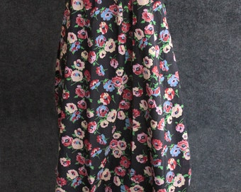 Vintage Saks Fifth Avenue Young Dimensions Elyse Fashions Flower Print Tube Dress with Pockets