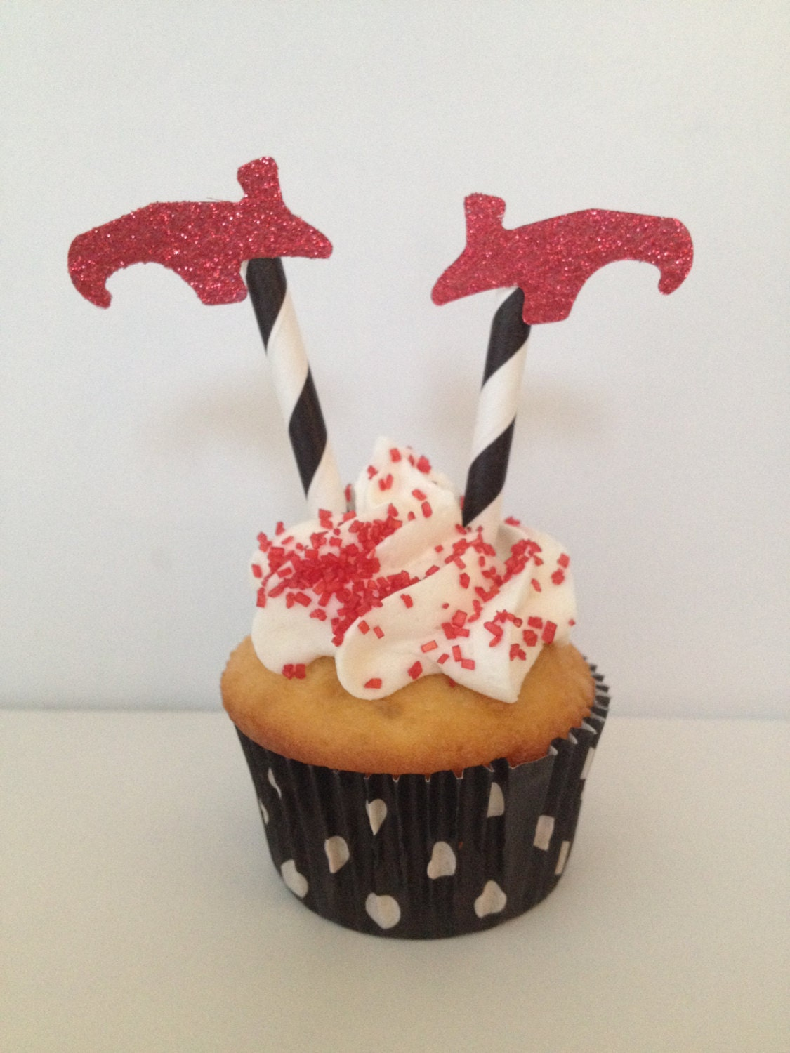 Red Glitter Witch's Shoes Wizard of OZ Cupcake Topper