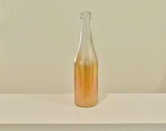 Carnival Glass Canada Dry Ginger Ale Bottle Marigold Iridescent Soda Pop Bottle