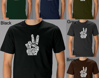 Men's T-shirt - Created using the words Give Peace a Chance