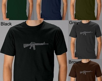 Men's T-shirt - Created using the first few lines of The Rifleman's Creed