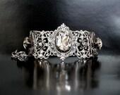 Swarovski Crystal Bracelet Silver Bracelet Gothic Wedding Bracelet Victorian Gothic Jewelry